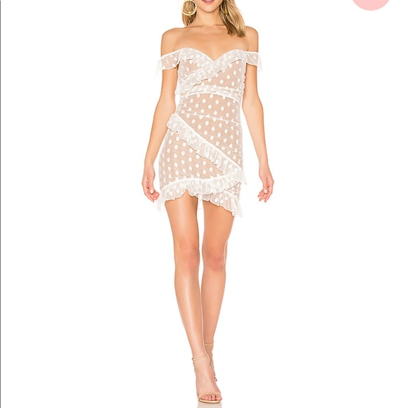 Bandit Dress in White - lace mesh MAJORELLE